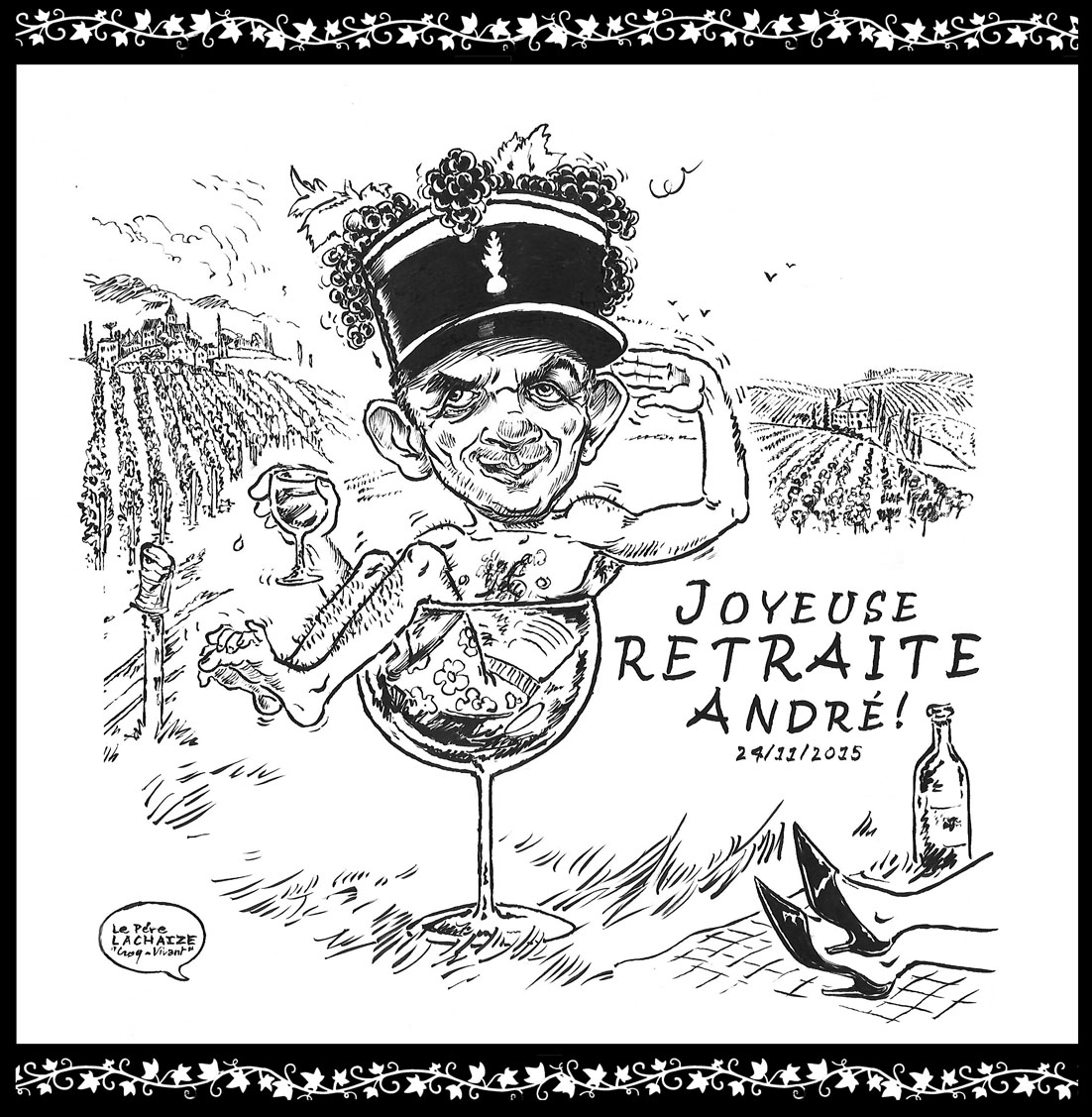 Caricaturiste le p re lachaize carricatures d 39 apr s photo - Dessin de gendarme a imprimer ...