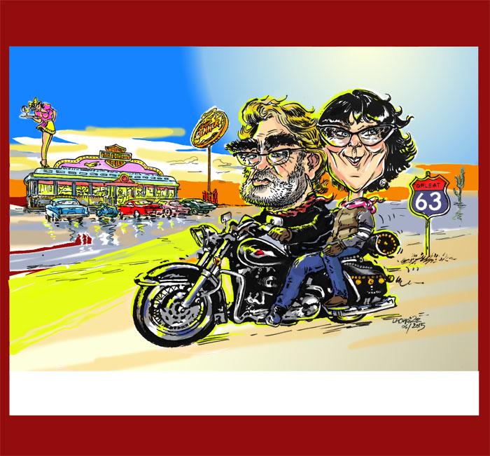 Caricaturiste le p re lachaize carricatures d 39 apr s photo - Dessin humour moto ...